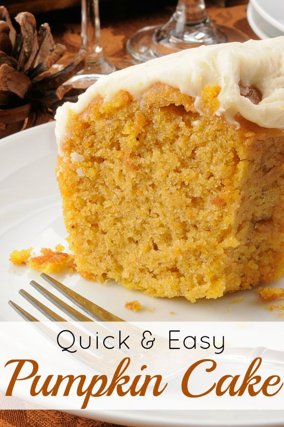 My quick and easy pumpkin cake is the perfect dessert to add to your Thanksgiving or Christmas menu! It's a delicious, moist cake that my whole family loves! http://www.savingeveryday.net/quick-and-easy-pumpkin-cake-2/