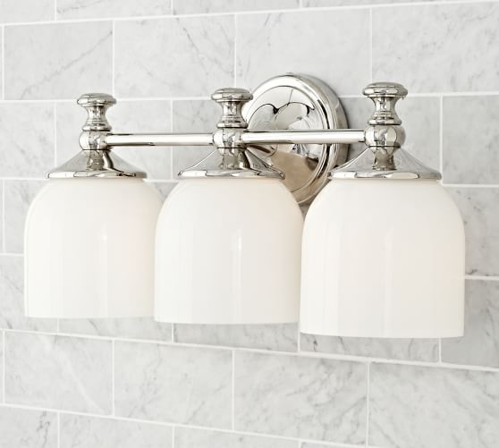 Bathroom Vanity Lights Pottery Barn : Mercer Triple Sconce Pottery Barn Bathroom Pinterest Pottery and Barn
