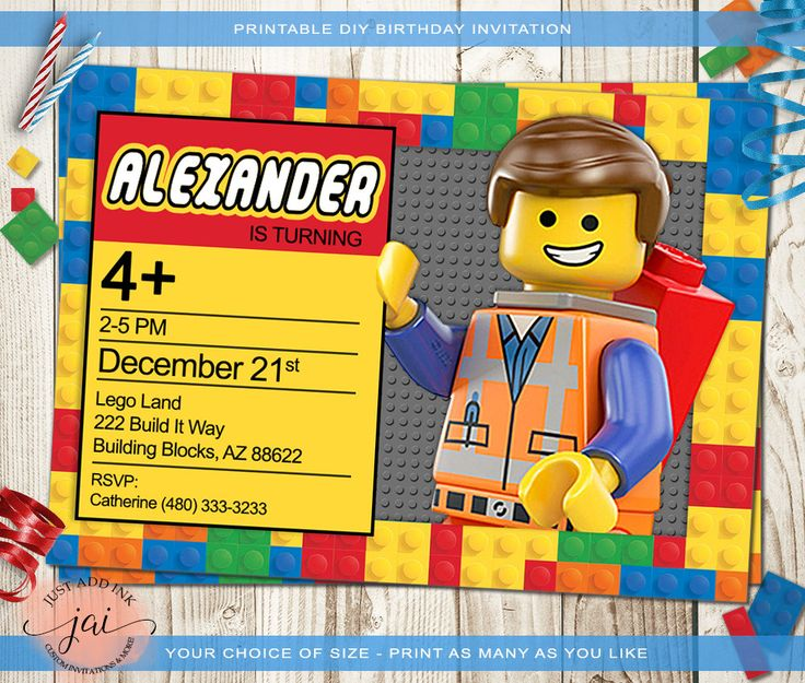 17 Terbaik ide tentang Lego Birthday Invitations di Pinterest – Lego Birthday Invite