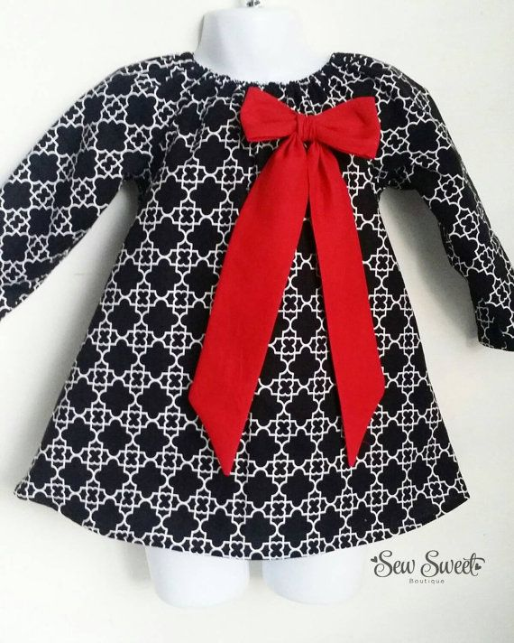 Hey, I found this really awesome Etsy listing at https://www.etsy.com/ca/listing/251583807/girls-black-white-peasant-dress
