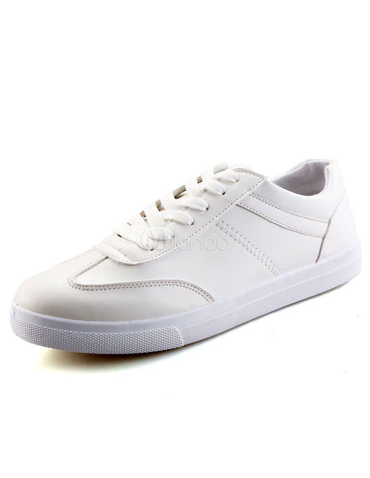 Sneakers Chic blanc Lace Up chaussures occasionnelles d'unité centrale pour les hommes