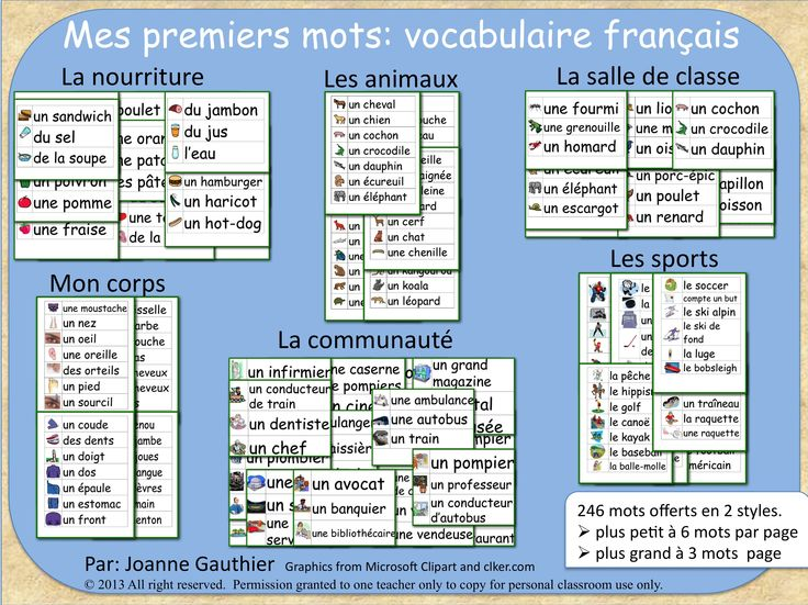 These 6 different word walls have a total of 246 words, all illustrated, to help students acquire more French vocabulary. All words are listed with articles so that students can easily understand whether to use feminine, masculine or plural agreements when using these new words in sentences. 2 versions of the word walls are included, one with smaller font and 6 words per page and another with larger font and 3 words per page.
