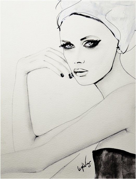Fashion illustration - stylish fashion drawing // Leigh Viner