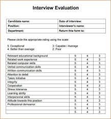 Image result for interview evaluation form