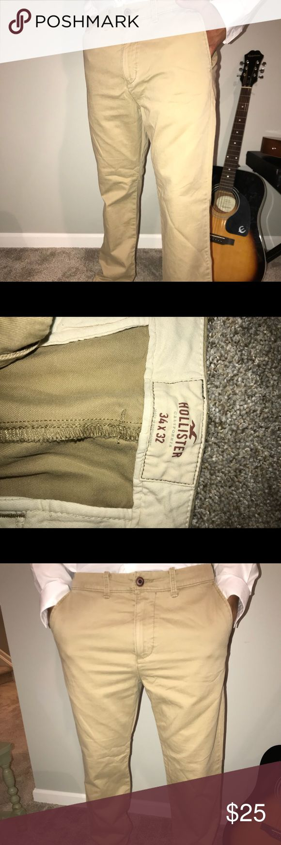 Hollister khakis Worn once. Like NEW condition. They are too big on me, so I decided to sell them. Hollister Pants Trousers