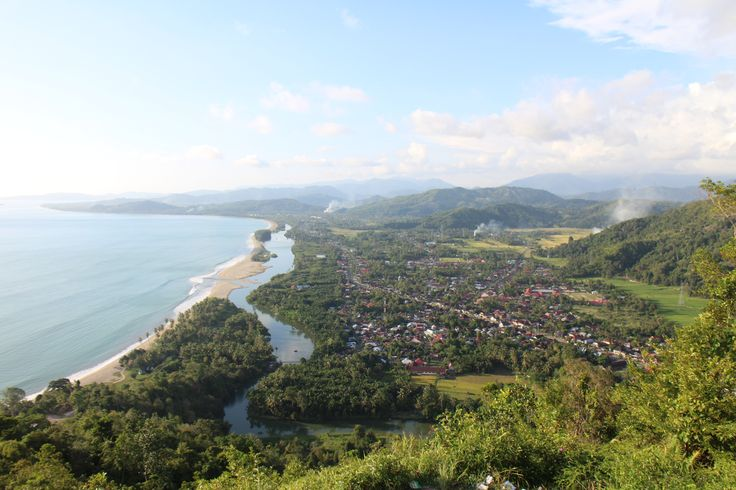 Carocok Beach from Langkisau Hill