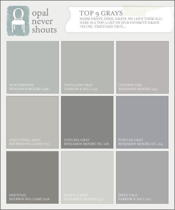 benjamin moore grays for the home pinterest