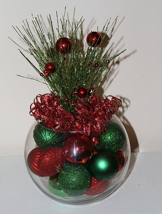 Christmas Centerpiece, Christmas Centerpieces, Red and Green Christmas, Holiday Decoration, Sparkly Centerpiece,