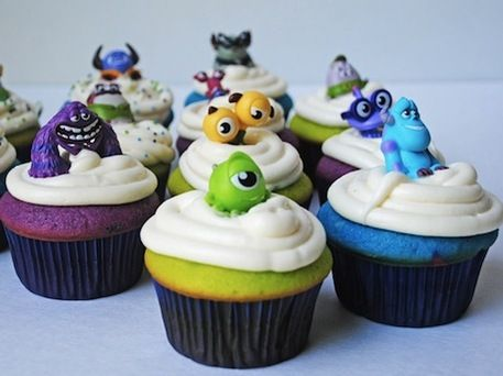 Monsters University Cupcakes from Wee Share