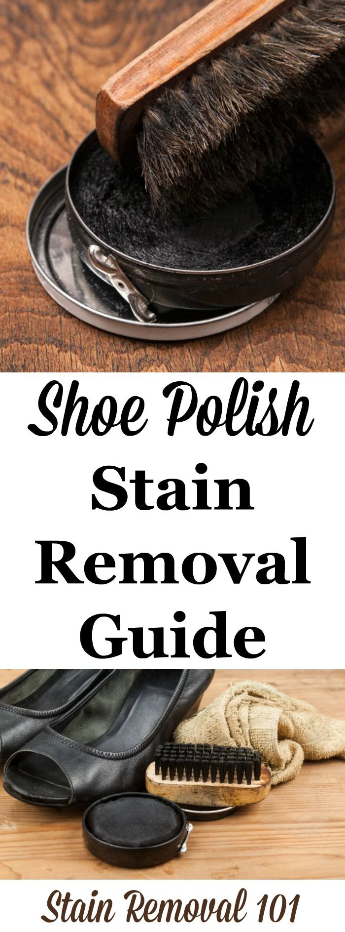 How to remove shoe polish stains from clothes, upholstery and carpet with step by step instructions {on Stain Removal 101}