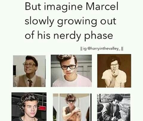 Marcel/Harry Styles<<<. Dude, NO!!  That's too much hotness for my eyes, and my brain!