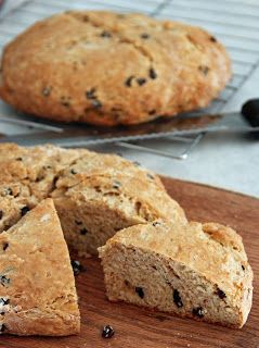 For St. Patrick's Day - Irish Whiskey Soda Bread. Quick and easy and delicious