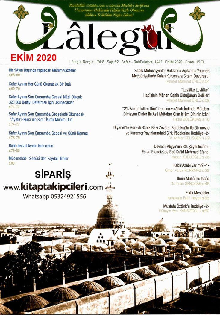Lalegul Dergisi Ekim 2020 Sayisi Cubbeli Ahmet Hoca Dualar Zikirler Dualar Ekim Doga