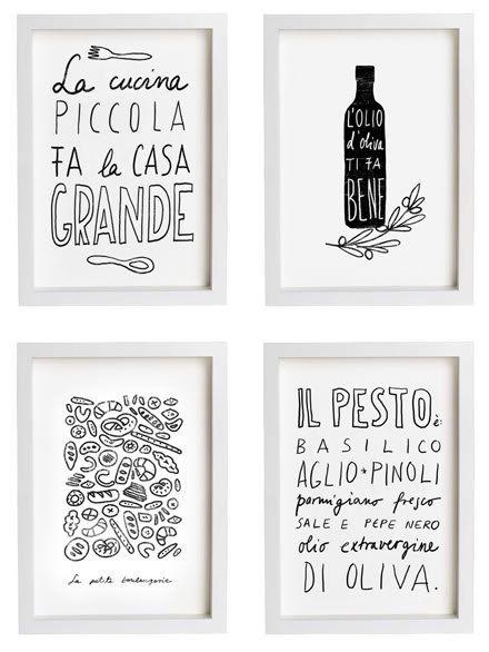 Wonderful Anek LA CUCINA Kitchen Art Typography Print   High Quality Fine Art Print.  $30.00,