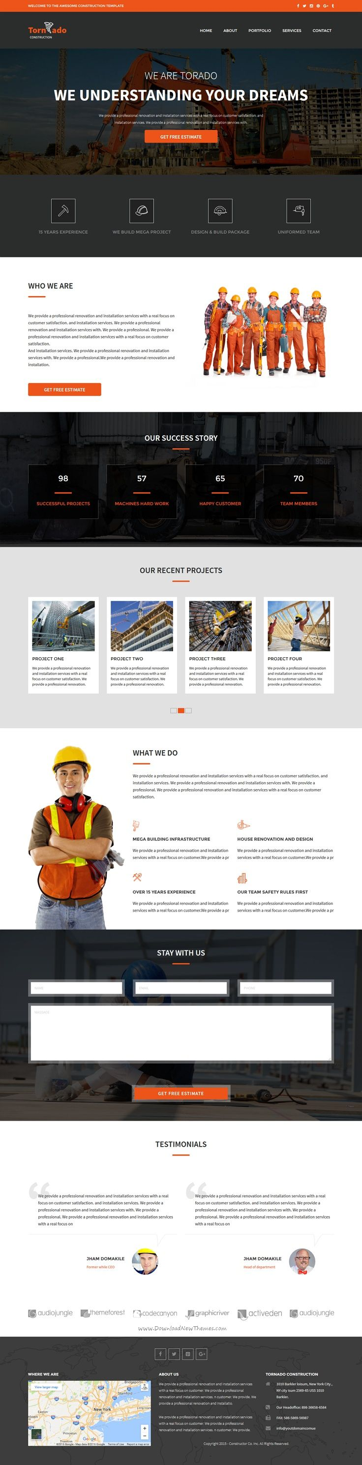 Tornado Pack is multiple 9 in 1 #Bootstrap HTML5 Landing Pages #template for multipurpose #construction website download now➯ https://themeforest.net/item/tornado-pack-multiple-landing-pages/16825784?ref=Datasata