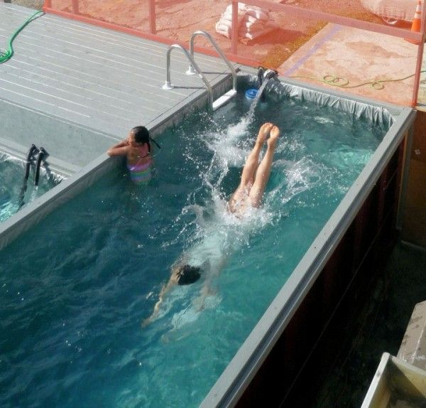 Shipping container pool shipping container swimming pool conversions lion containers ltd for Swimming pools made from shipping containers