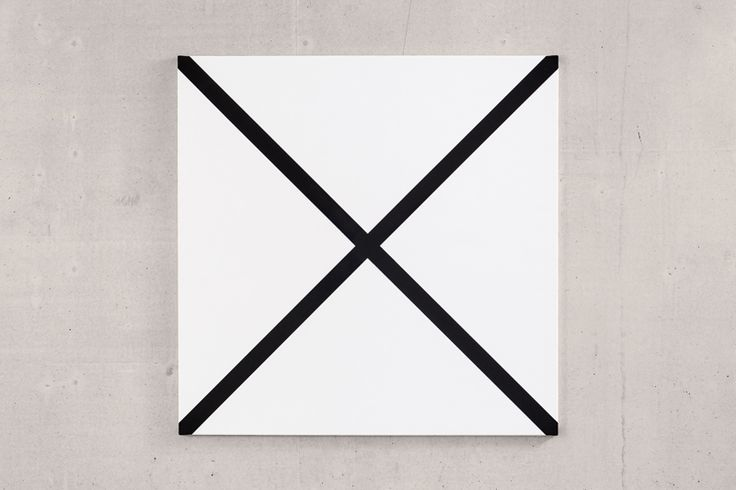 """X – undefined images"", 2014, acrylic on canvas, 100 × 100 cm"