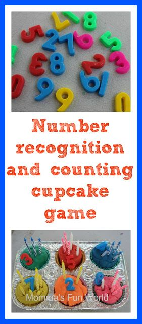 Cupcake play dough counting and number recognition