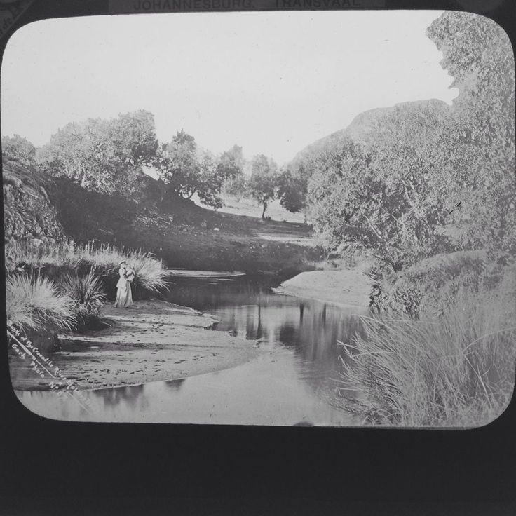 Magic Lantern Slide Transvaal War Crocodile River Mulders Drift South Africa