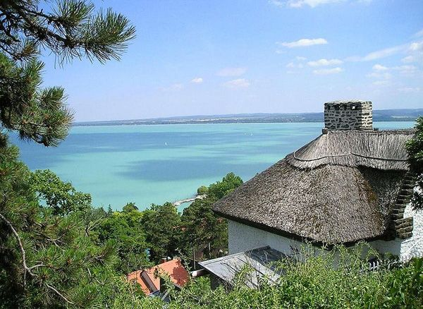 Traditional reed-roof from the Nothern-side of Balaton