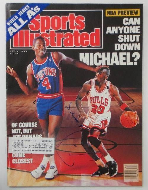 Joe Dumars Pistons Signed November 6, 1989 Sports Illustrated Magazine JSA