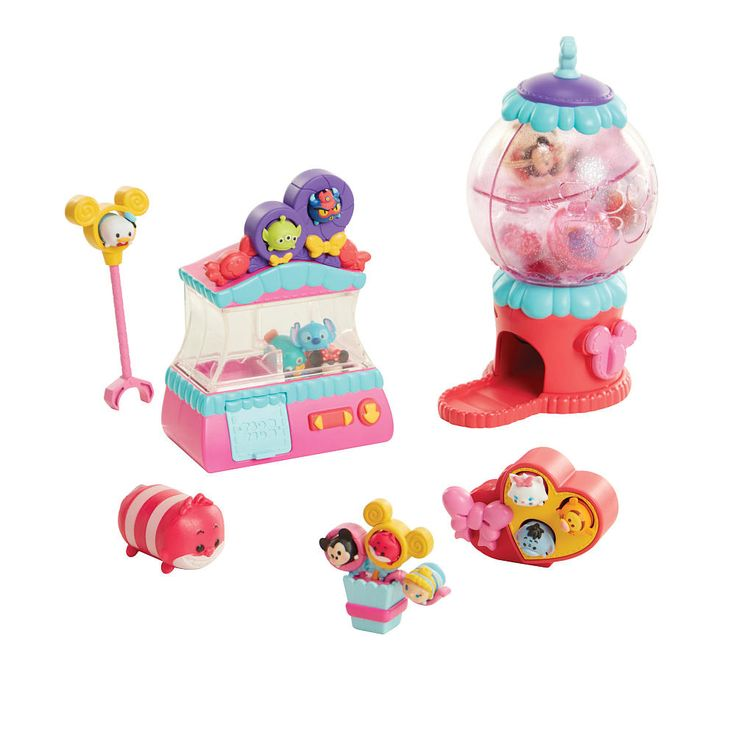 Introducing a whole new way to collect, stack and display your Disney Tsum Tsum collection! Use the claw game to grab your favorite, adorable figures and lift up the claw to set them free! Collect, stack and display your favorite Disney Tsum Tsum characters! Some assembly may be required.  The Disney Tsum Tsum Tsweet Boutique Playset - 18 Pieces Features: The Tsweet Boutique includes 4 small Color Pop! figures and 1 exclusive large light-up figu...
