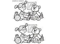 Diferencias Dibujos para imprimir. Dos son iguales, encuentra la pareja, encuentra las diferencias, etc...