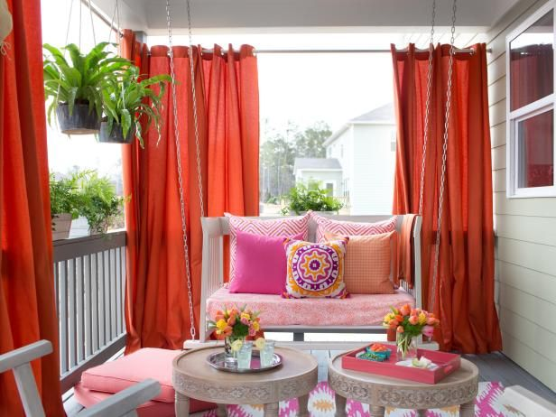You'll love these ideas for beautiful outdoor curtains from the experts at DIY Network. >> http://www.diynetwork.com/how-to/rooms-and-spaces/doors-and-windows/ideas-for-beautiful-outdoor-curtains?soc=pinterest