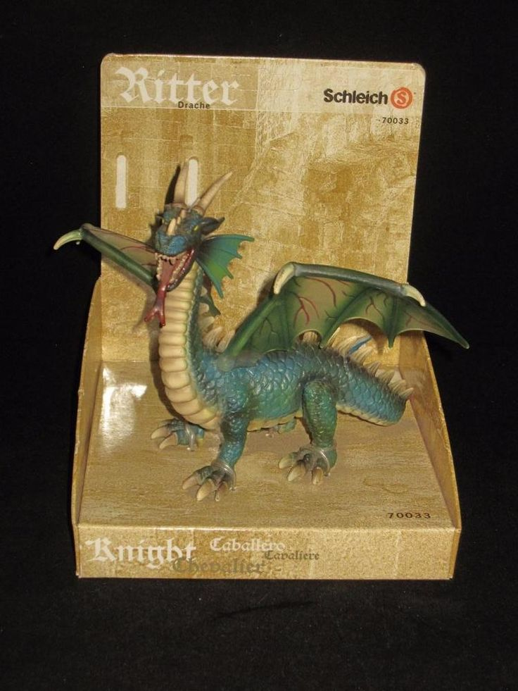 Schleich Ritter, Green Dragon, with Original Package