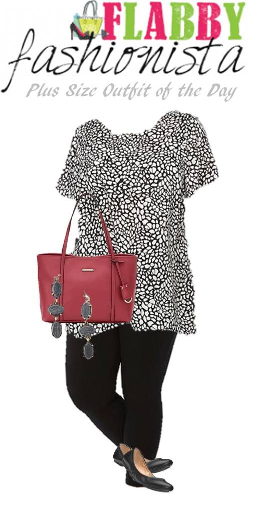 Plus Size Outfit of the Day – Flattering Leggings with a Perfect Pop of Red! #OOTD