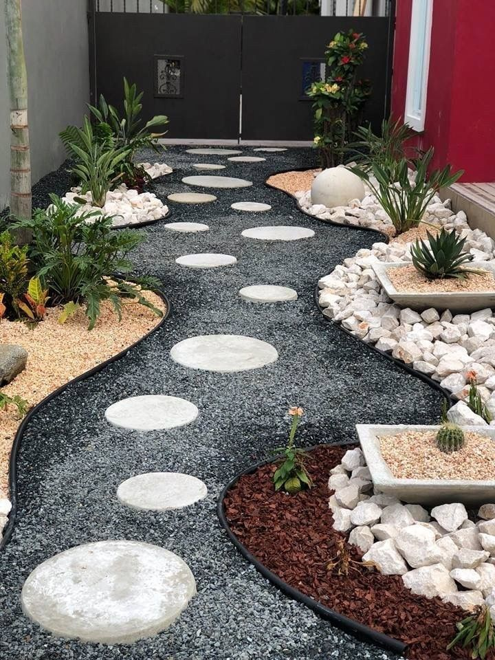 47 stunning front yard garden pathways landscaping ideas 23
