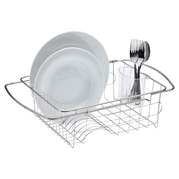 In Sink Dish Drainer Stainless Steel