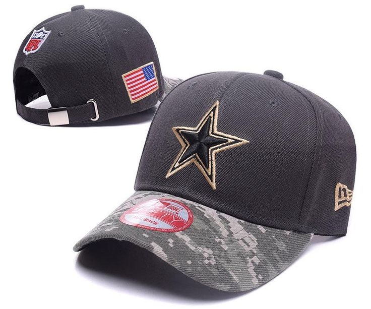 Men's / Women's Dallas Cowboys New Era NFL On-Fields Digital Camo Visor Adjustable Baseball Hat - Black / Gold