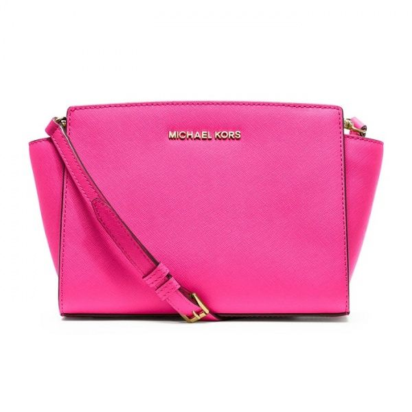 MICHAEL BY MICHAEL KORS PINK SELMA MEDIUM LEATHER SHOULDER BAG from  Picsity.com