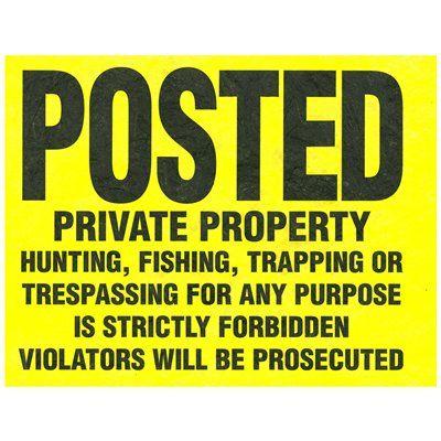 Hillman 11-in x 11-in Private Property Tyvek Plastic Sign