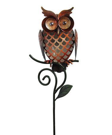 Love This Orange Owl Solar Garden Stake On #zulily! #zulilyfinds