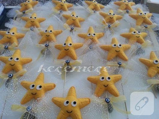 Keçe deniz yıldızı bebek şekeri