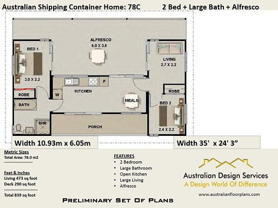 Ship Container House Plans 3 Containers Shipping Containers Etsy Container House Plans Shipping Container House Plans Container House