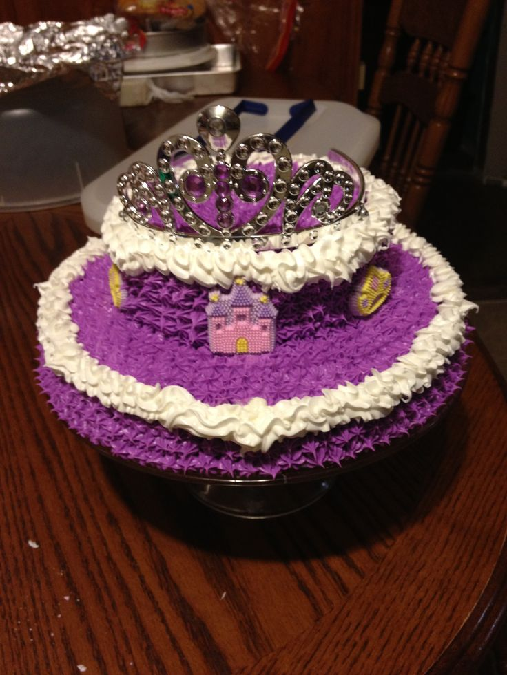 Sofia the First princess birthday cake. This is before I added an amulet of avalor hanging off and of course candles.