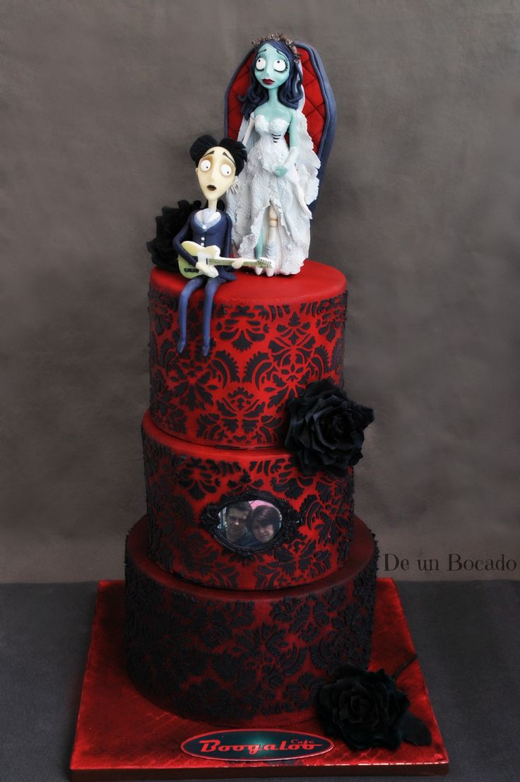 Corpse bride cake  Tarta de la novia cadáver