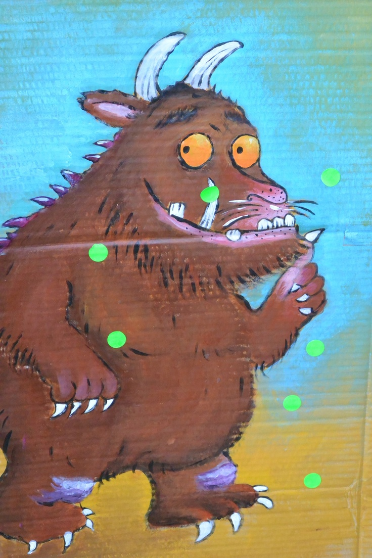 Gruffalo party: pin the wart on the gruffalo was a big hit. This was painted by a girlfriend