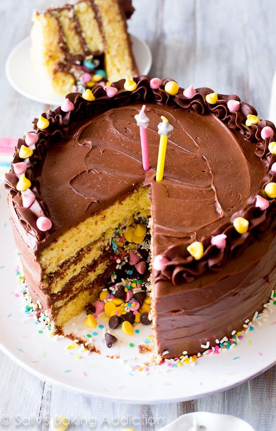 How to Make a Piñata Cake-- does it get ANY better than this? From scratch recipe on sallysbakingaddiction.com