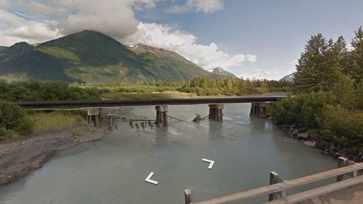 Latitude: 60.867221 (60° 52' 2.00'' N) Longitude: -149.031398 (149° 1' 53.03'' W)  #ChugachNationalForest #Alaska #USA #StreetView #Travel #Landscape