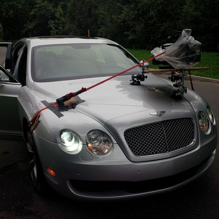 Another camera car rig. This time the added challenge is the luxury car and the cost of a possible scratch repair, and a rainy day.