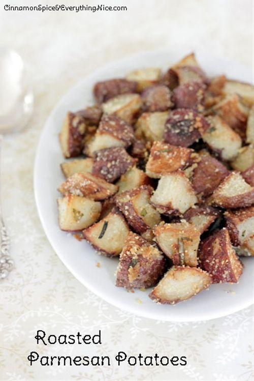 Oven Roasted Parmesan Garlic Potatoes