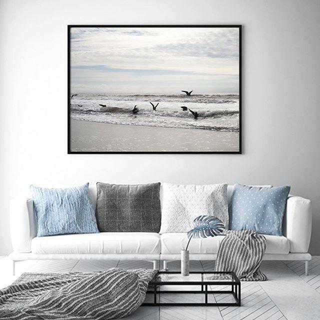 Morskie klimaty na ścianie? 🐟🌊 Jeśli ktoś lubi zachęcamy do przeglądania naszych Nowości 😀💙 ————— www.colormint.pl