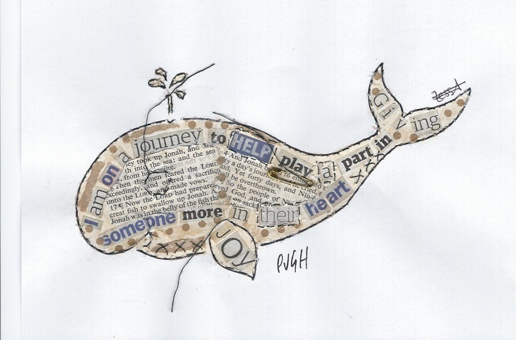 Whale collage Tess Ainley Kidney Cancer UK