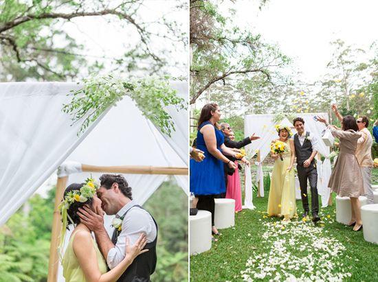 Miyuki and Mike's Romantic Garden Wedding