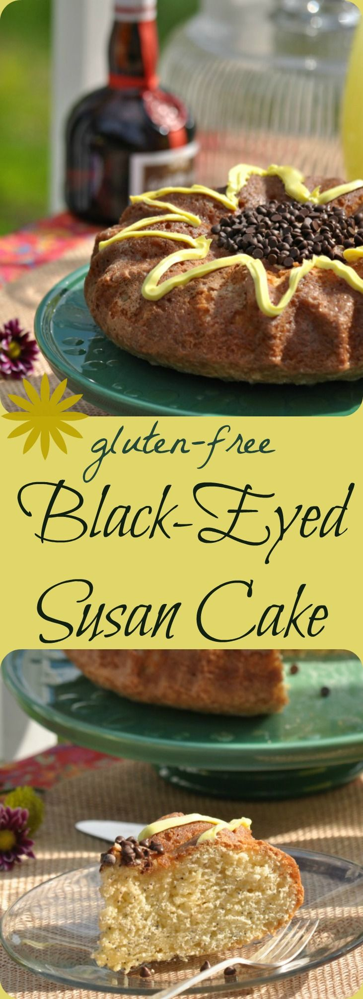 Gluten Free Black-Eyed Susan Cake - perfect for Derby Days, spring-time rainy days, hot summer days ... or anytime you'd love a slice of citrusy-delicious pound cake! Gluten-free Dairy-free |gfJules.com