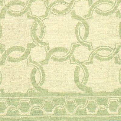 Superior The Cream And Green Geometric Pattern Of The Bombay Needlepoint Rug 1325CG  Is A Great Complement